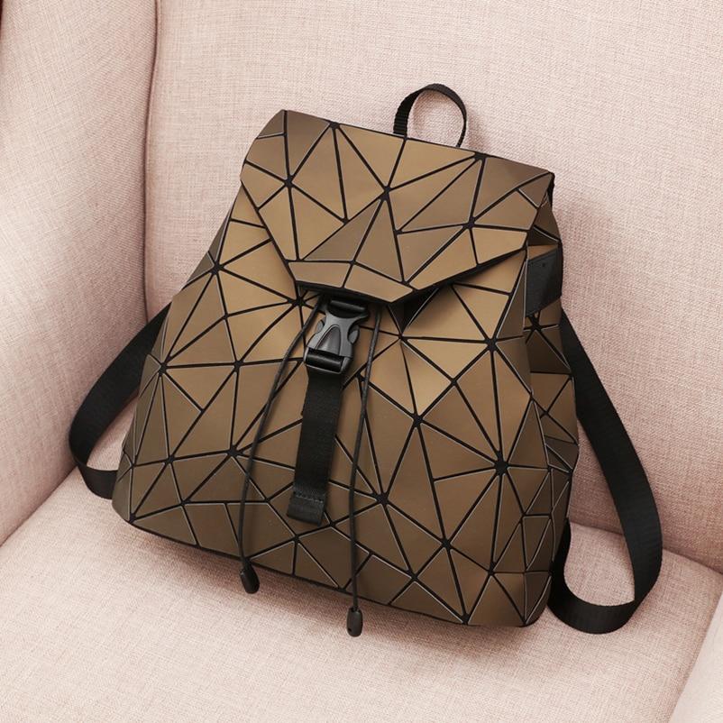 Nevenka Diamond Lattice Backpack Women Backpack Leather Creative Geometric Backpacks Drawstring Backpacks for Teenager Girl 201804