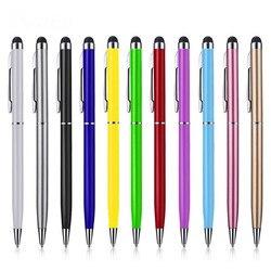 500 sztuk/partia ze stopu aluminium uniwersalny 2 w 1 ekran dotykowy rysik pojemnościowy z długopis dla ipad iphone samsung