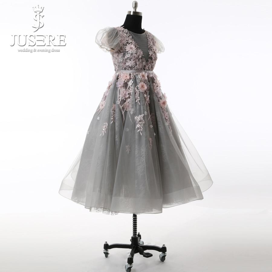 Kūdikių suknelė Pilka Tylos kūno gėlės Spalvinga plunksna - Suknelės vestuvėms - Nuotrauka 4
