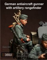 Scale Models 1 35 German Anti Aircraft Gunner With Artillery Soldier Figure Uncolor WWII Resin Model