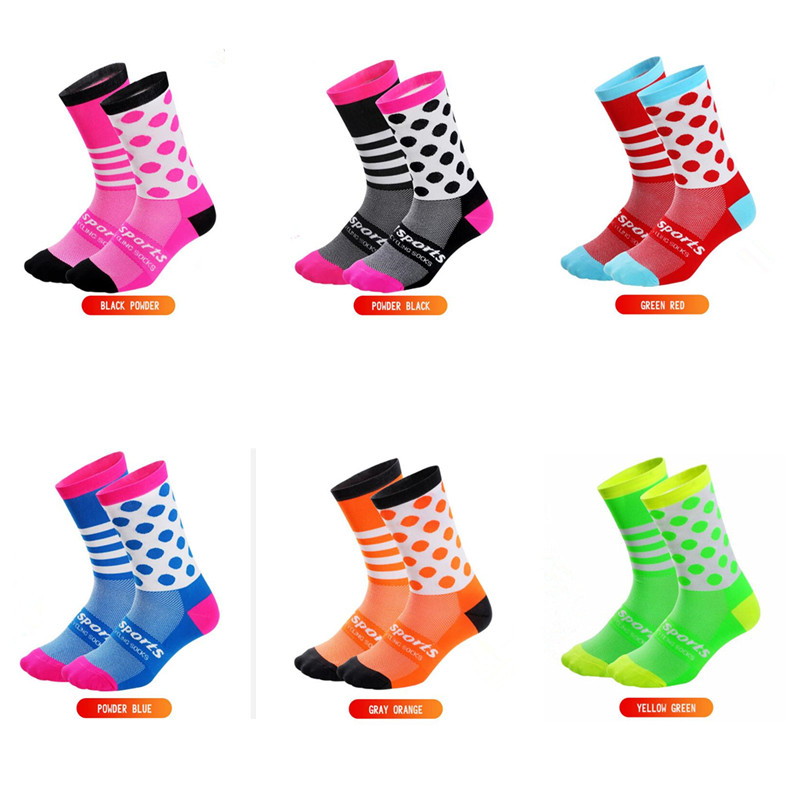 DH SPORTS Socks Cycling Socks Four Seasons Long Compression Tube Bicycle Ladies Men Crossfit Sock