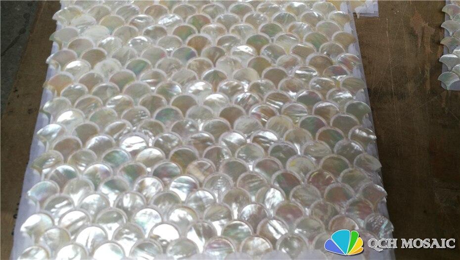 Whitelip shell perlmutt mosaik fliesen für küche backsplash und bad natürlichen muschel weiß farbe 5 platz feet/lot - 4