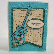 Acoustic Guitar Musical Instrument Metal Cutting Dies for Scrapbooking Craft Card Making Album Embossing