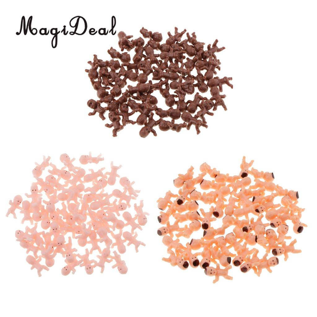 MagiDeal 50pcs Mini Baby Doll Toy Baby Shower Decor Party Bag Filler