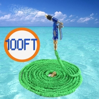 100FT Expandable Garden Hose Water Pipe with Copper Spray Gun