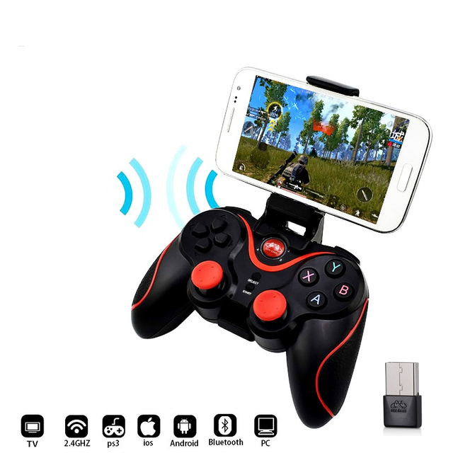 DATA FROG Bluetooth Wireless Gamepad Game Controller For PS3 TV PC Laptop Joystick 4