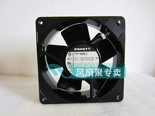 Original German papst TYP 4586Z 230V 12CM 12038 full metal temperature cooling fan original ebmpapst w2g107 ad03 13 12cm 12038 24v3 3w full metal cooling fan