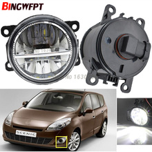 2x Car Exterior Accessories H11 LED Fog Lamps Front Bumper Fog Lights For Renault GRAND SCENIC III JZ0 JZ1 MPV 2009-2015