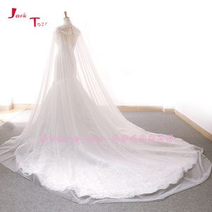 Image 5 - Jark tozr 2020 新到着レースマーメイドウェディングドレスとショールスリムエレガントな中国ブライダルガウン vestido noiva sereia