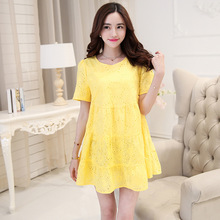 Summer Pregnant Clothes Maternity Clothing Women Maternity Dress Casual Knitted Lace Clothes For Pregnant Women