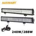 Auxmart 23 inch LED Light Bar CREE Chips 3-Row 288W 5D 240w LED Work Light Bar 12V 24V ATV SUV Pickup Truck 4x4 Offroad LED Bar