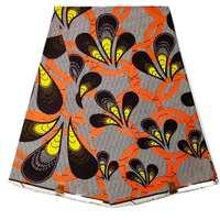 African Real Wax Print Fabric For Patchwork 6 Yard Women Dress Wax Ankara African high quality soft 40*40 yarn Wax Print Fabric