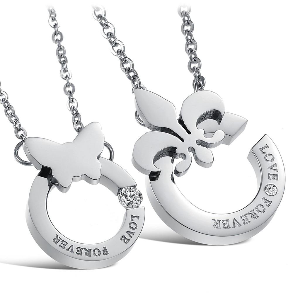 c886b1acad Korean Couple Necklace Titanium Necklaces Pendants Cute Necklaces For Couples  Matching Necklaces For Couples GX817