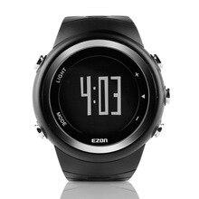 EZON открытый виды спорта калорий шагомер электронный водонепроницаемый мужские часы Черный Цифровой WristwatchesT023