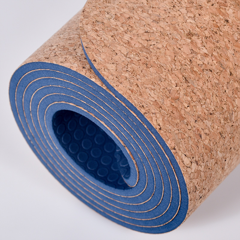6MM 183*61CM Colorful Cork Natural Rubber Yoga Mat Fitness Cushion For Women Men Pilates Gymnastics Pad Exercise Sport Mat dature tpe yoga mat 6mm fitness mat for fitness yoga carpet gym mat with yoga bag gymnastics mats balance pad 183 61cm 6mm