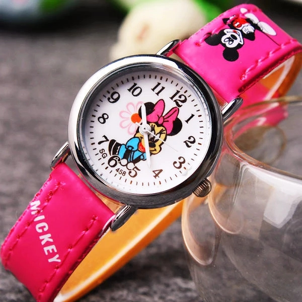 New Mini Children's Cartoon Disney Mickey Mouse Print Strap Cute Fashion Quartz Watch Girl Watch