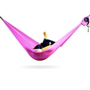 Image 5 - Amaca da campeggio doppia paracadute leggero amache portatili hamock rosso per escursioni viaggi campeggio con amaca cinghie carbina