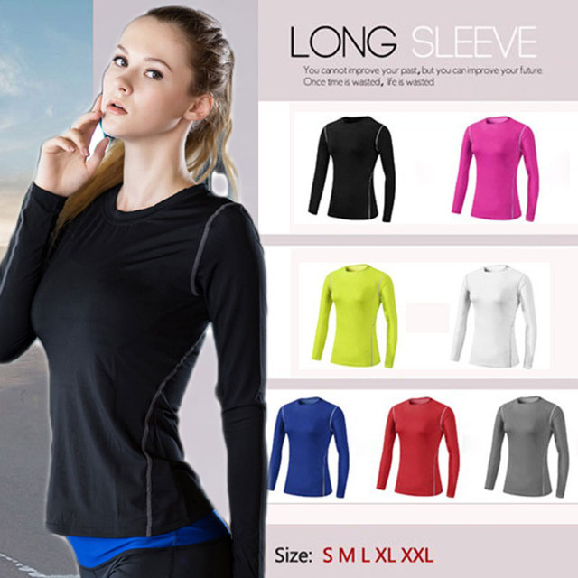 Ladies Quick Drying Long Sleeve Fitness Top 2