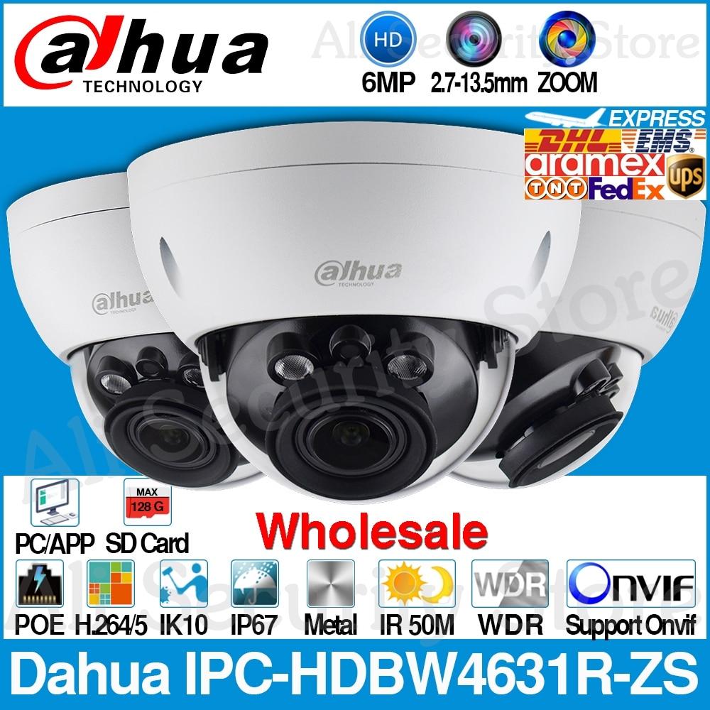 Dahua 6MP PoE Mic IR IK10 Detection IP Camera  H.265 IPC-HFW4631H-ZSA 2.7~13.5mm
