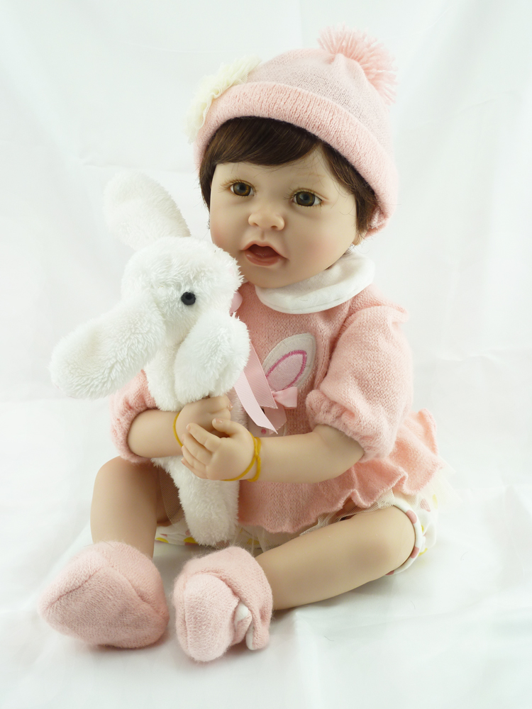 22 girl doll reborn toys soft silicone reborn babies cloth body dolls for children gift rabbit plush dolls reborn bonecas  22 girl doll reborn toys soft silicone reborn babies cloth body dolls for children gift rabbit plush dolls reborn bonecas