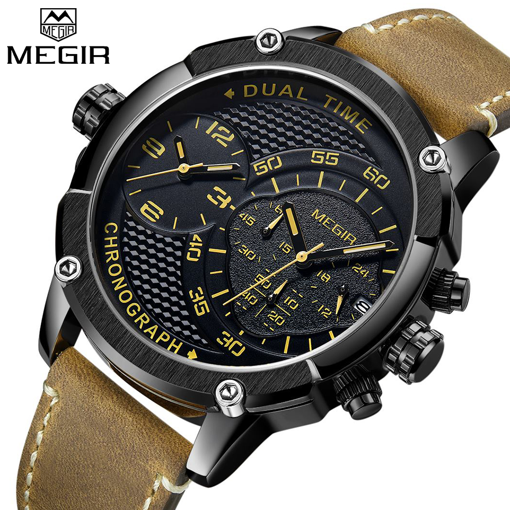 New Design MEGIR Chronograph Sports Watch fashion Luxury