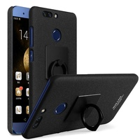 IMAK For Huawei Honor8 Pro Cowboy Shell Ring Grip Stand Matte PC Case Screen Film For