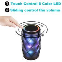 Binmer Portable Audio Video Speakers LED Bluetooth Speaker Hi Fi Portable Wireless Stereo Speaker Color Changing
