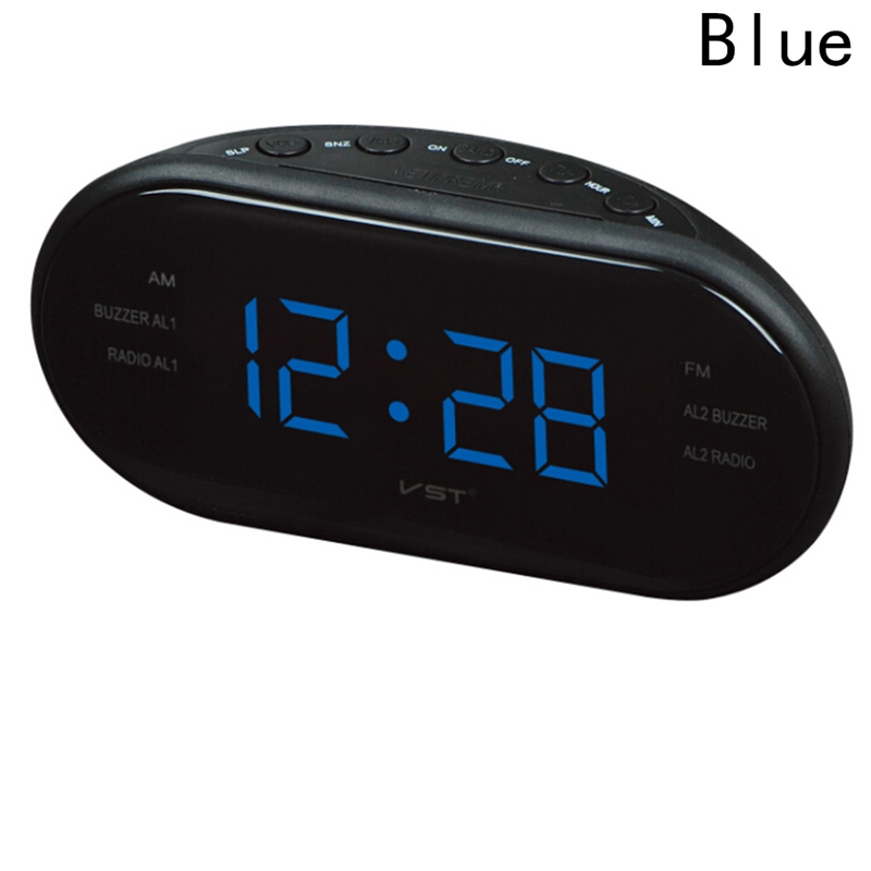 New Fashion Modern AM/FM LED Clock Radio Electronic Desktop Alarm Clock Digital Table Clocks Snooze Function