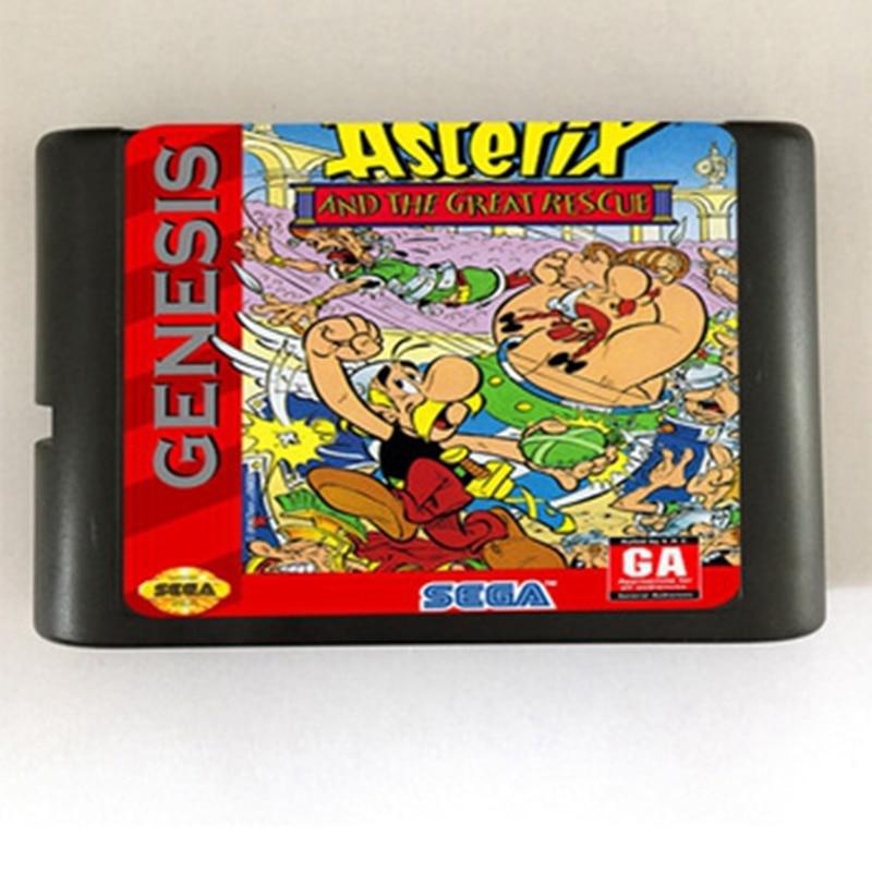 FleißIg Asterix Und Die Große Rettungs Ii Spiel Patrone Neueste 16 Bit Game Card Für Sega Mega Drive/genesis System QualitäTswaren Unterhaltungselektronik