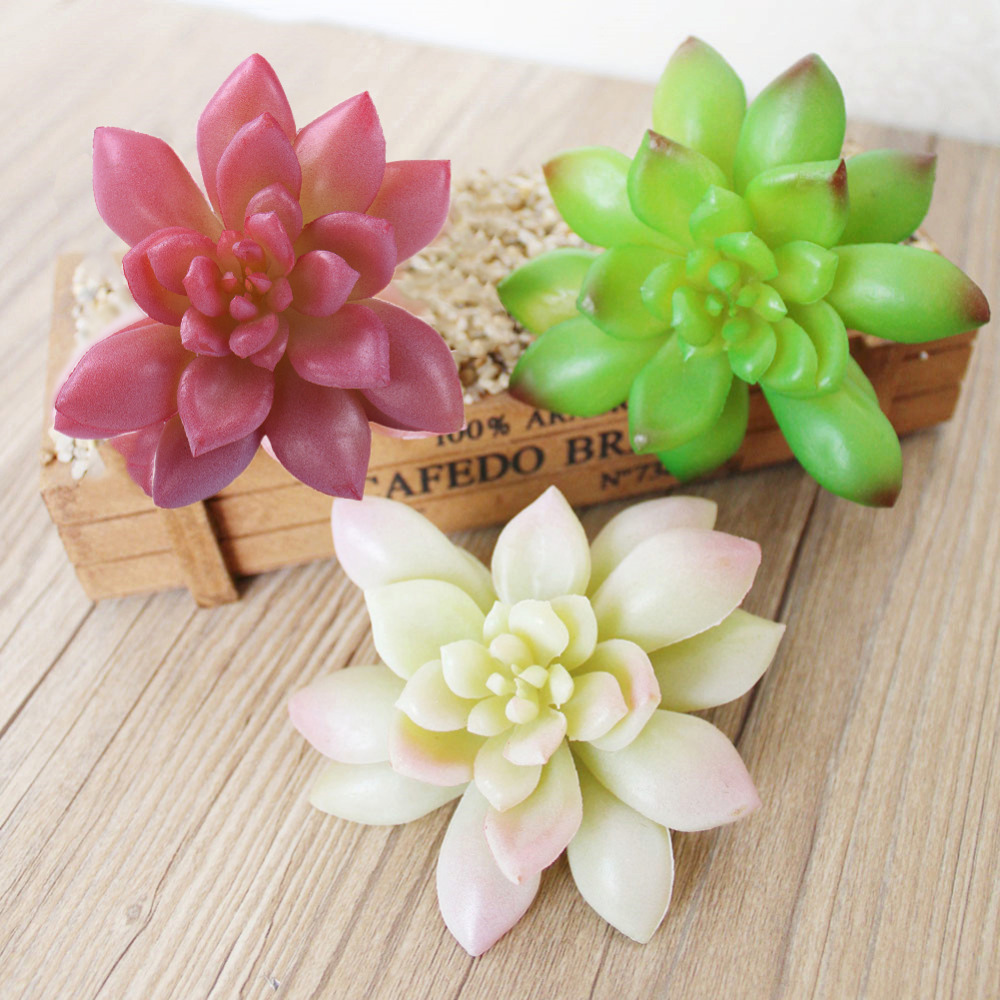 Micro Landscape Artificial Succulents Plants Grass Desert Fake Flower Artificial Plants Ornament Home Garden Decoration thumbnail