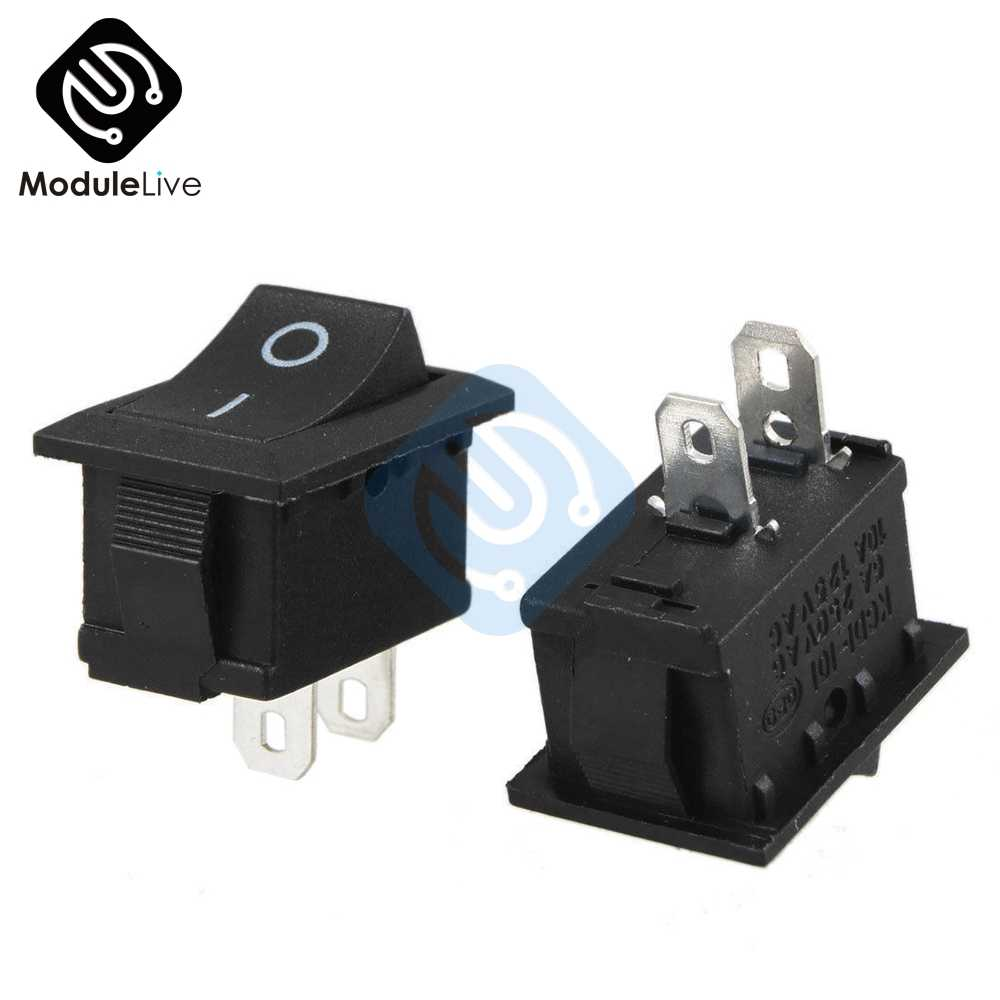 1PC 2Pin 2P Snap-In Pada/Off KCD1-101 Mobil Perahu Round Rocker Toggle SPST Switch 125V Baru