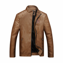 Leather Jacket Men chaqueta Jaqueta Couro Masculino Bomber Leather Jackets Coat Motorcycle Jackets jaqueta de couro masculina