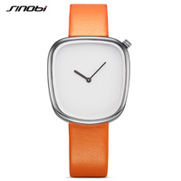 SINOBI Brand Irregular Women Fashion Casual Watches 4 Colors Neutral Pebble Ladies Black Quartz Wristwatch Relogio
