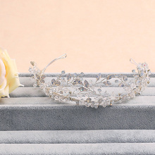 Jonnafe Vid Impresionante Crystal Pelo de La Boda Accesorios Nupciales Hechos A Mano Tiara Diadema Tiaras de la Corona de Plata de Las Mujeres