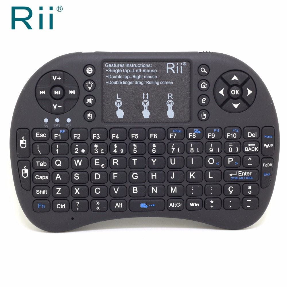 c06eb5bc2f6 Original Rii i8+ Portuguese Version Mini 2.4G Wireless Keyboard+Air  Mouse+Touchpad+Backlit for IPTV/PC/Laptop