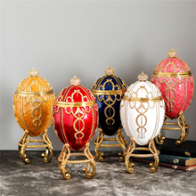 Qifu home decoration 1895 Rosebud qifu faberge egg with carriage replica for decor