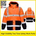 Chaqueta de trabajo de alta visibilidad reflectante de seguridad de dos tonos chaqueta termal del invierno ropa de trabajo ropa de seguridad