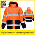 High visibility two tone reflective safety work jacket thermal winter jacket  workwear safety clothing