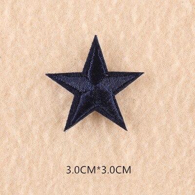 1 шт. смешанные нашивки со звездами для одежды, железная вышитая аппликация, милая нашивка эмблема на ткани, одежда, аксессуары для одежды DIY 61 - Цвет: 61X