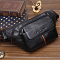 New genuine leather cowhide waist packs  bags   travel belt wallets mens fanny pack for men