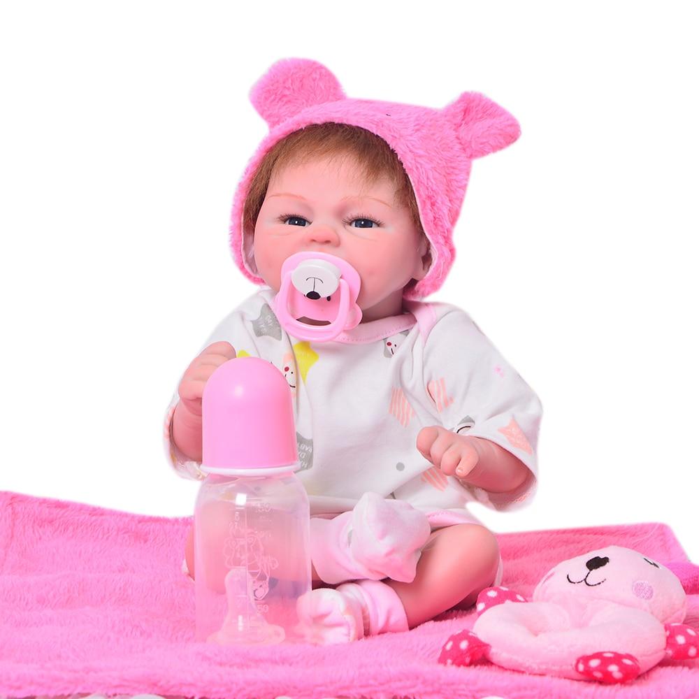 Keiumi 18 인치 새로운 스타일 rebron 아기 귀여운 소녀 인형 부드러운 실리콘 비닐 2019 사랑스러운 아기 장난감 인형 어린이 날 선물-에서인형부터 완구 & 취미 의  그룹 1