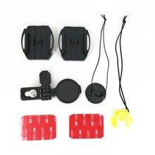 Zakrzywiony klej regulowany kask mocowanie boczne dla Sony HDR AS50 AS30 AS20 AS15 AS10 AS300 AS200 AS100 AZ1 X3000 X1000 jak VCT HSM1