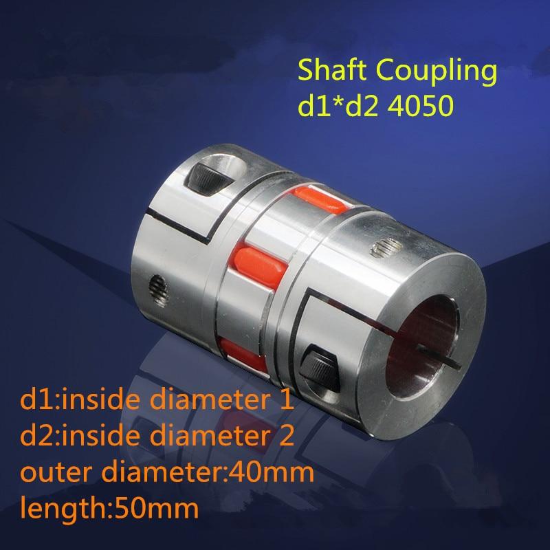 1PCS YT1444 Aluminum Alloy Elastic Coupling Servo Motor Motor Coupling Shaft Coupling Plum Coupling BF d1*d2 4050 jm80c od80 l114 servo motor coupling jaw coupling flexible coupling shaft coupling