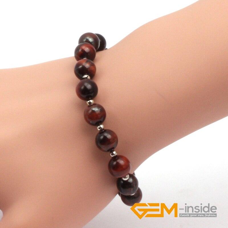 6mm 8mm red tiger eye bracelet natural stone bracelet Guardian stone for Capricorn free shipping wholesale !