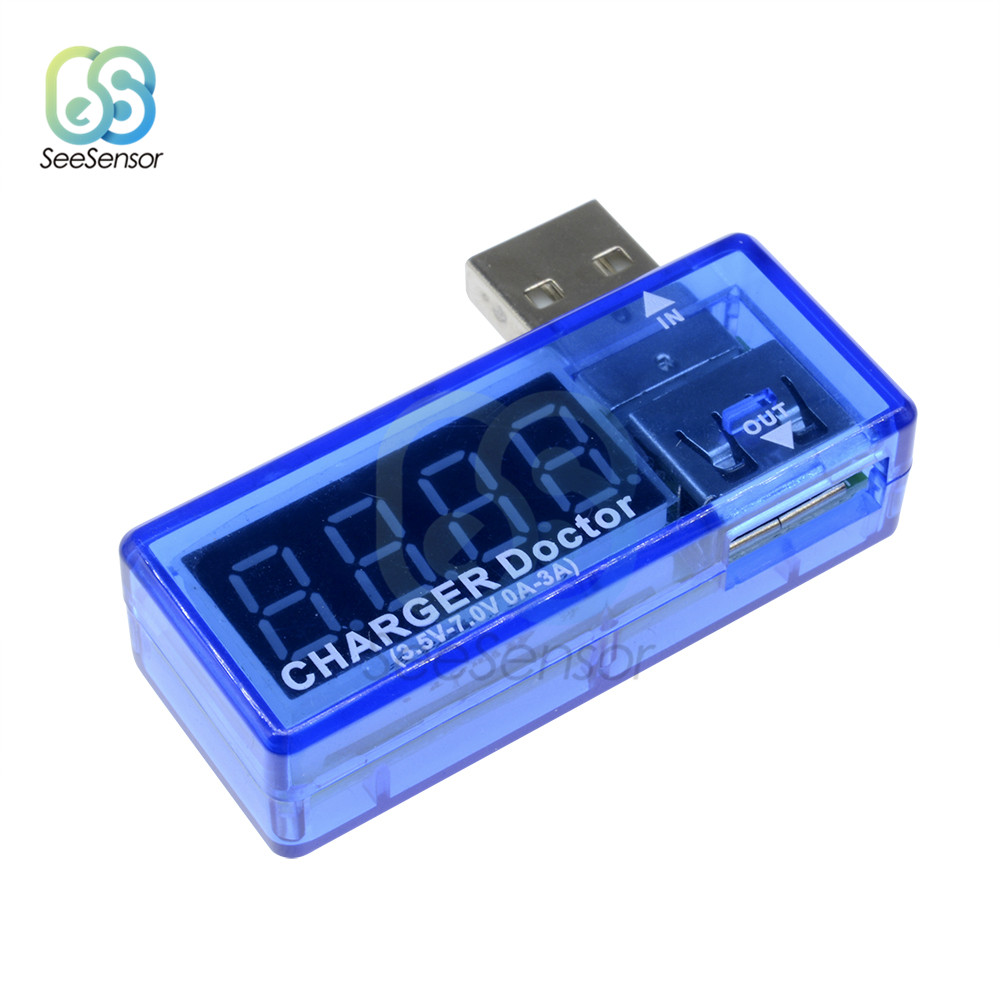 Digital USB Mobile Power Charging Current Voltage Tester Meter Smart Electronics Mini USB Charger Doctor Voltmeter Ammeter