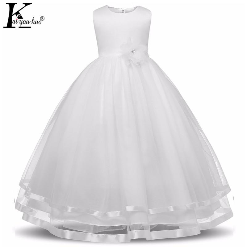 Vestidos de princesa vestido de las muchachas de alta calidad sin mangas vestido de verano ropa de los niños vestidos de fiesta para los niños vestido de boda