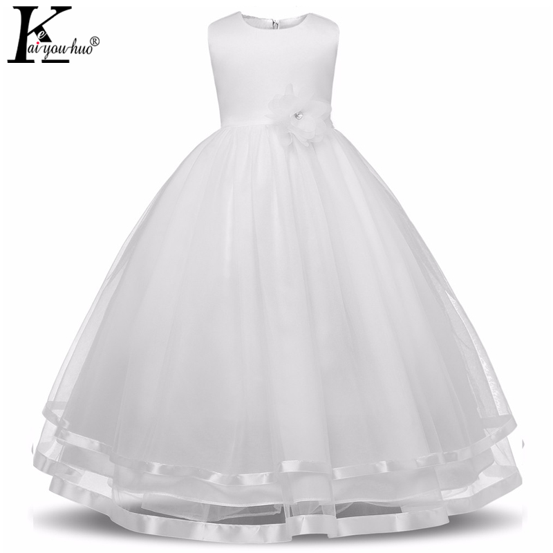 Vestidos Princess Girls Dress High Quality Sleeveless Summer Dress Children Clothes Party Dresses Costume For Kids Wedding Dress