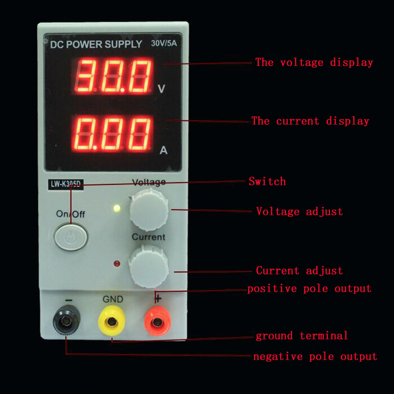 30V10A  Regulated Adjustable DC Power Supply Single Phase LW-K3010D wholesale lw 3010d regulated adjustable dc power supply single phase 30v10a us eu au plug
