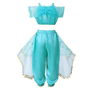Image 2 - Kids Girls Princess Jasmine Costumes For Children Party Belly Dance Dress Indian Costume Halloween Christmas Party Cosplay 3 10T