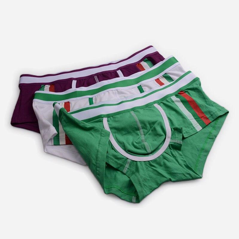 9thArea male underwear mens briefs Bright colorful Lines Fashion Cotton fabric Mens underwear men intimo uomo sexy underpants